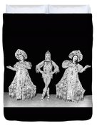 Russian Claudia Ballet Dancers Duvet Cover by Underwood Archives