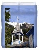 Russian Orthodox Church Bell Tower Duvet Cover