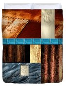 Rust And Rocks Rectangles Duvet Cover