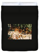 Rust And Roses Duvet Cover