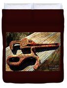 Rust Tools II With Texture Duvet Cover
