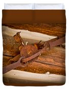 Rust Trapped On A Log - Old Trap - Casper Wyoming Duvet Cover