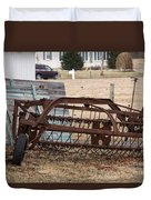 Rusted Hay Rake Duvet Cover
