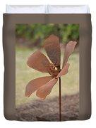 Rusted Iron Flower Duvet Cover