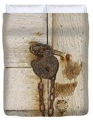 Rusted Lock Duvet Cover