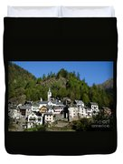 Rustic Alpine Village Duvet Cover