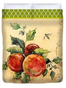 Rustic Apples On Moroccan Duvet Cover