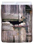 Rustic Barn Door Duvet Cover