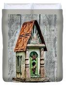 Rustic Birdhouse Duvet Cover