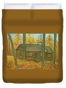 Rustic Cabin At Lake Hope Ohio Duvet Cover