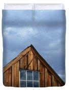 Rustic Cabin Window Duvet Cover