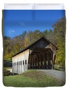 Rustic Covered Bridge Duvet Cover