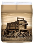 Rustic Covered Wagon Duvet Cover