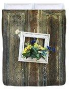 Rustic Door  Duvet Cover