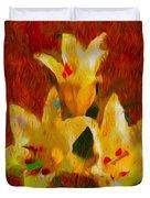 Rustic Lilies 2 Duvet Cover