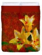 Rustic Lilies Duvet Cover