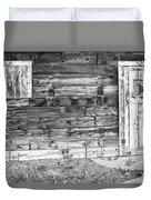 Rustic Old Colorado Barn Door And Window Bw Duvet Cover