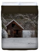 Rustic Shack After The Storm Duvet Cover