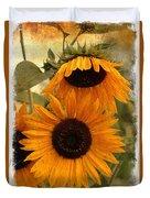 Rustic Sunflowers Duvet Cover
