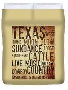 Rustic Texas Art Duvet Cover