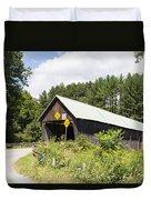 Rustic Vermont Covered Bridge Duvet Cover
