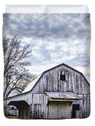 Rustic White Barn Duvet Cover by Cricket Hackmann
