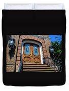 Rustic Wood Charleston Door Duvet Cover