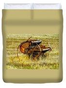 Rusting Farm Equipment Duvet Cover