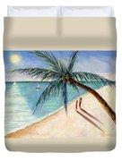 Rustling Palm Duvet Cover