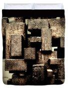 Rusty Art Duvet Cover by Joan Carroll