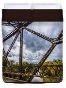 Rusty Bridge In Fall Duvet Cover