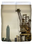 Rusty Cranes At Battersea Power Station Duvet Cover