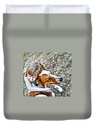 Rusty Dog Love Duvet Cover