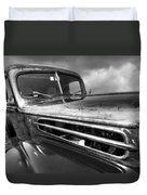 Rusty Ford 1942 Black And White Duvet Cover