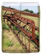 Rusty Hay Rake Duvet Cover