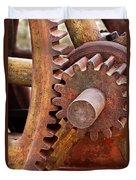 Rusty Metal Gears Duvet Cover
