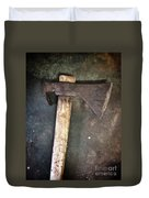 Rusty Old Axe Duvet Cover by Carlos Caetano
