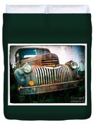 Rusty Old Chevy Pickup Duvet Cover