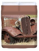 Rusty Old Chevy Duvet Cover