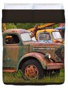 Rusty Old Trucks Duvet Cover
