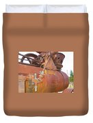 Rusty Steam Tractor Duvet Cover