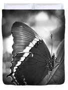 Rusty Tip Butterfly Black And White Duvet Cover