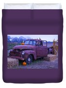 Rusty Truck With Pumpkins Duvet Cover
