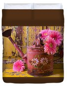 Rusty Watering Can Duvet Cover