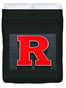 Rutgers Block R Duvet Cover