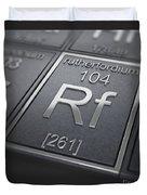 Rutherfordium Chemical Element Duvet Cover