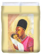 Rwandan Maternal Kiss Duvet Cover