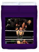 Ryback And Shield Duvet Cover
