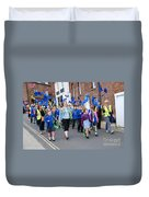 Rye Olympic Torch Parade Duvet Cover