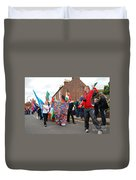 Rye Olympic Torch Relay Parade Duvet Cover